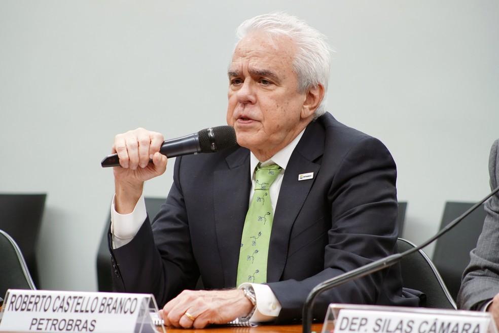 O presidente da Petrobras, Roberto Castello Branco, durante audiência em comissão da Câmara — Foto: Will Shutter/Câmara dos Deputados