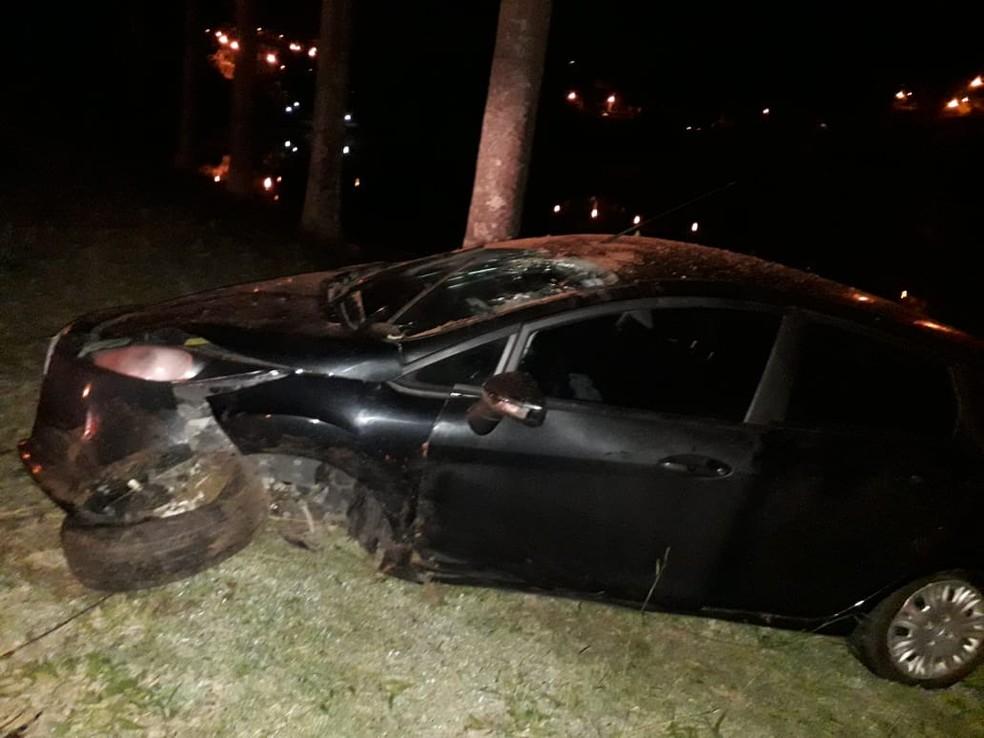 Filho de promotora fugiu após ter causado acidente e ter recebido voz de prisão de juiz em Bragança Paulista — Foto: Arquivo Pessoal