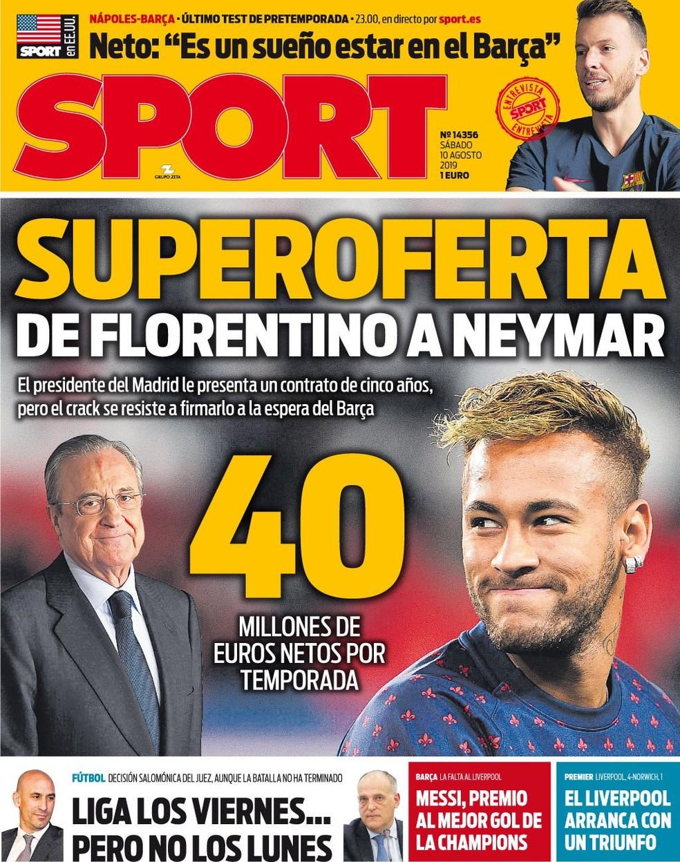Sport Neymar Barcelona PSG — Foto: Reprodução/Sport
