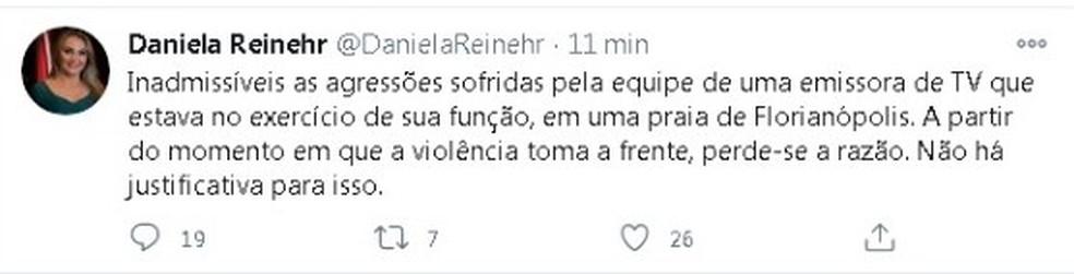 Publicação de governadora interina de SC foi apagada  — Foto: Reprodução/Rede Social