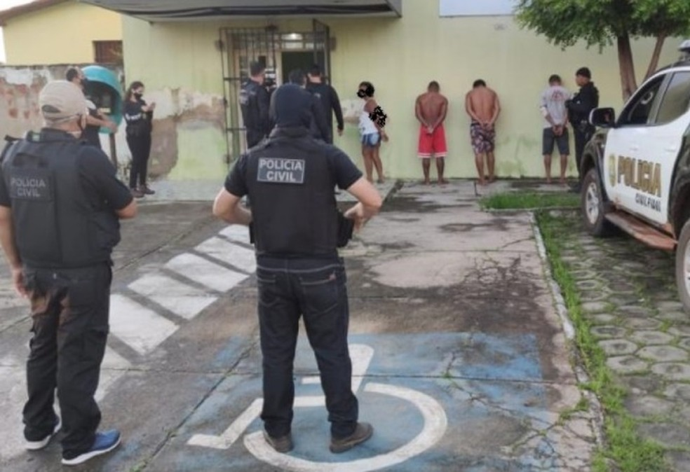 Presos em Buriti dos Lopes — Foto: Divulgação/PC-PI