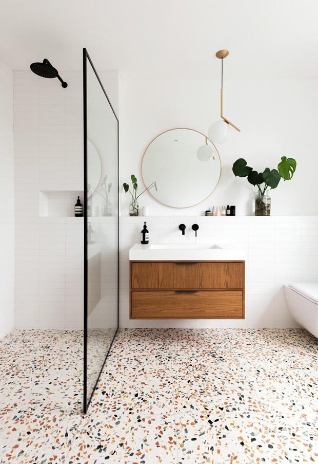 9 versões de granilite: material agradável ao toque e irresistível ao olhar (Foto: Hût Architecture/ Divulgação)