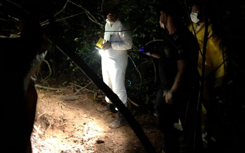 Local em que foi encontrado corpo da gerente de hipermercado  — Foto: Divulgação/Polícia Civil