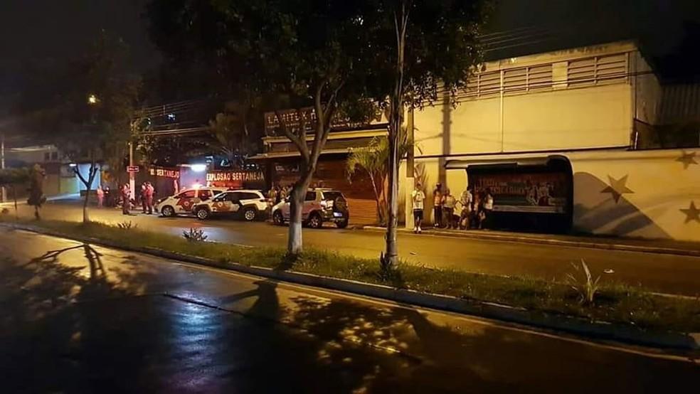 Festa acontecia em casa de shows próxima ao Mercatau — Foto: Reprodução/Ocorrências 24h