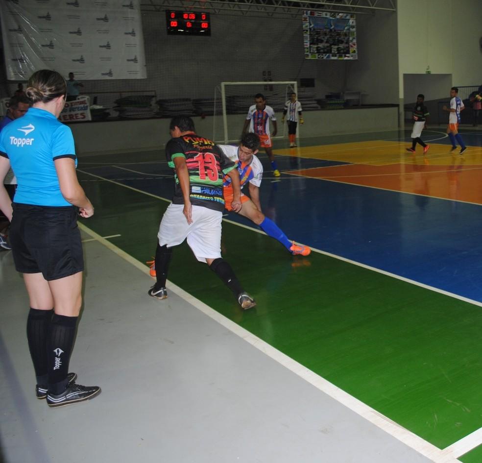 Primeira rodada da Série Ouro foi neste sábado (22) — Foto: Federação de Futsal Tocantinense\ Divulgação