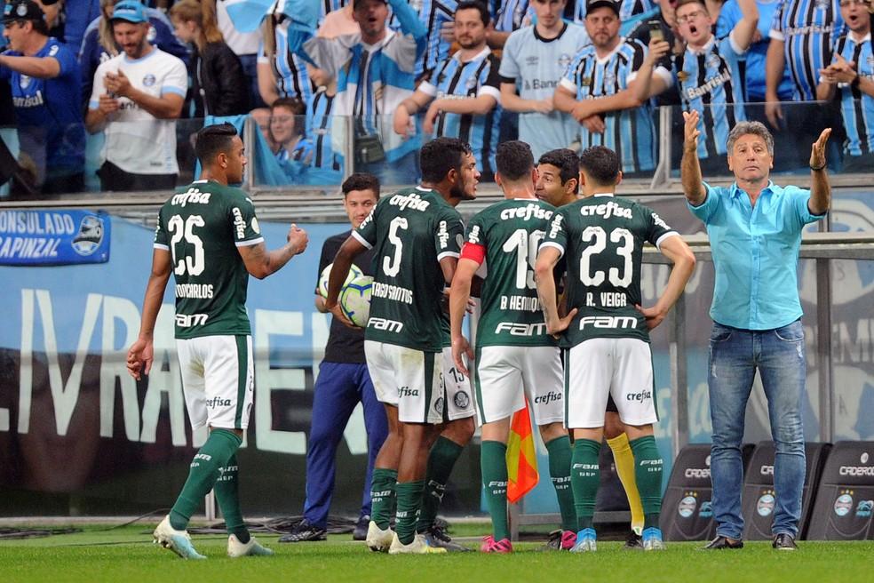Renato Gaúcho, técnico do Grêmio , contra o Palmeiras  — Foto: Wesley Santos / Agência PressDigital