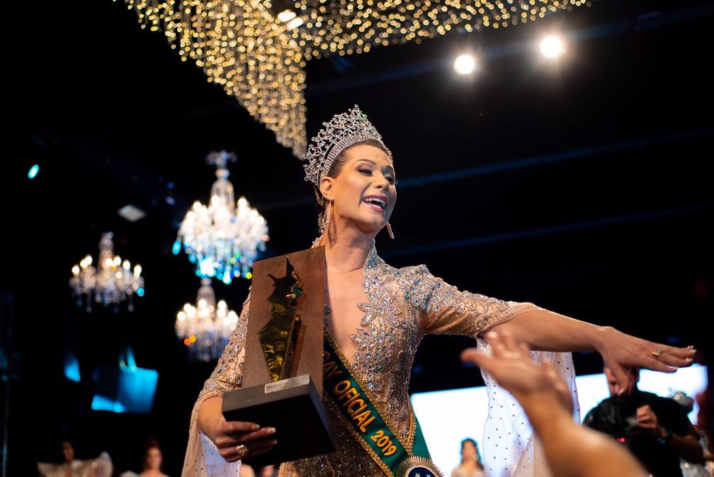 Antonia Gutierrez, representante de Pernambuco, é eleita Miss Brasil Gay 2019 — Foto: Luciano Lima Jr/Divulgação