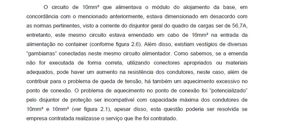 """Trecho do relatório da """"Anexa"""" entregue ao Flamengo — Foto: Reprodução"""