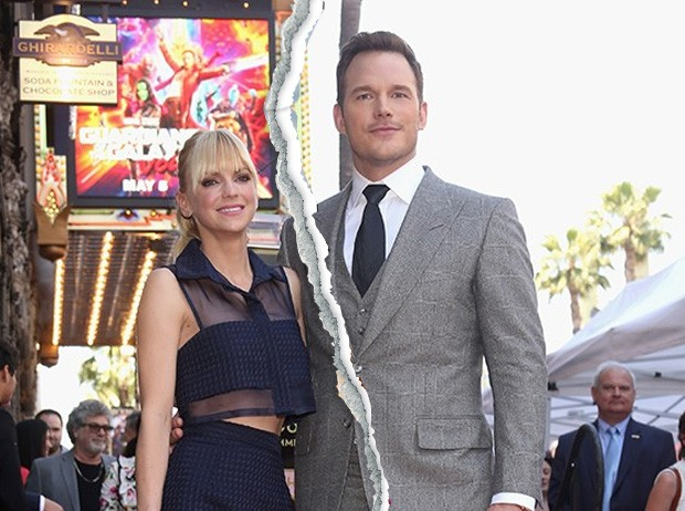O ex-casal Anna Faris e Chris Pratt (Foto: Getty Images)