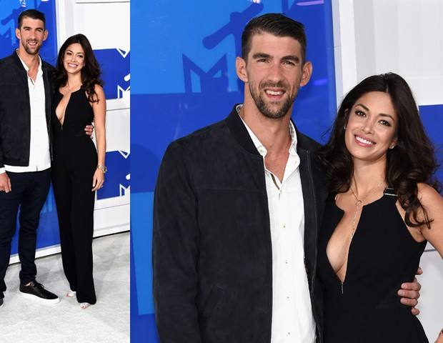 Michael Phelps, Nicole Johnson (Foto: Jamie McCarthy/ Getty images)