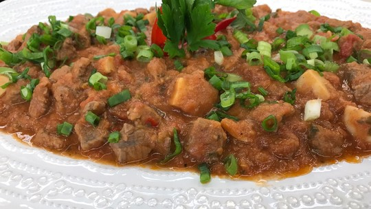 Estrogonofe de Inhame do Chef Roberto Ravioli