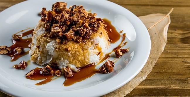 Aprazível: cuscuz de tapioca com coco