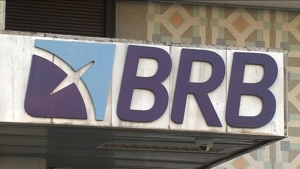 Fachada do Banco de Brasília, BRB, alvo da operação do MPF e da PF Circus Maximus — Foto: Reprodução/JN