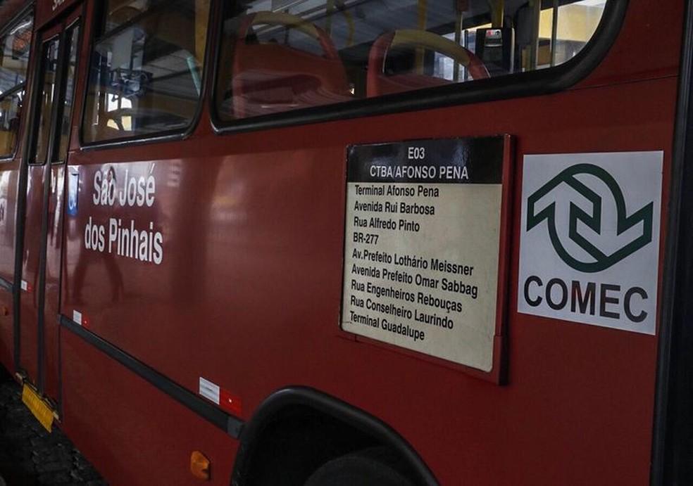 Governo anuncia reajustes das passagens de ônibus da Região Metropolitana de Curitiba — Foto: Comec