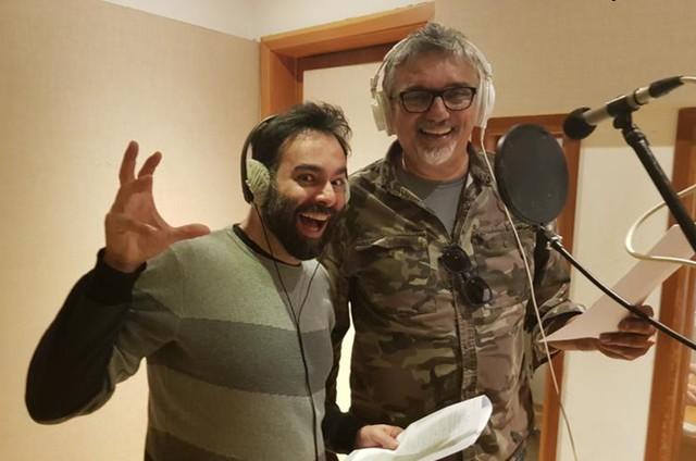 O diretor Ale McHaddo e o cantor Falcão (Foto: Arquivo pessoal)