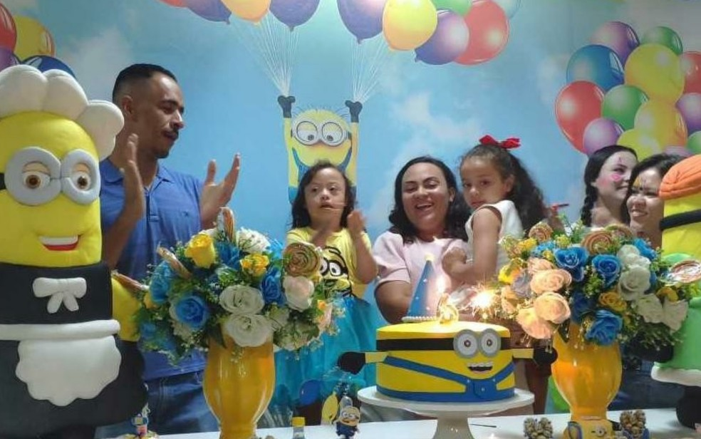 Aniversário da Alice Barros Fagundes, de 6 anos — Foto: Thaís Barbosa/TV Anhanguera