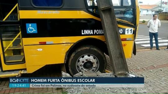 Homem é preso suspeito de furtar ônibus escolar, em Palmas