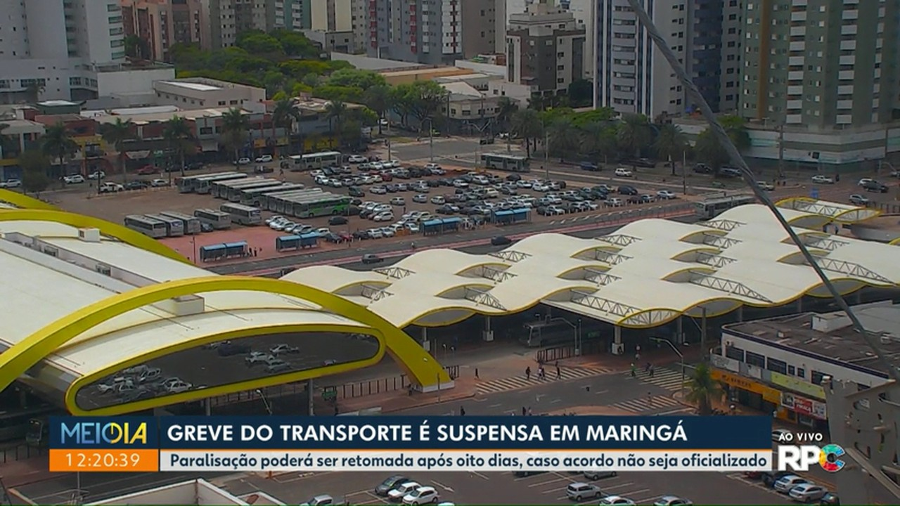Greve do transporte coletivo é suspensa em Maringá