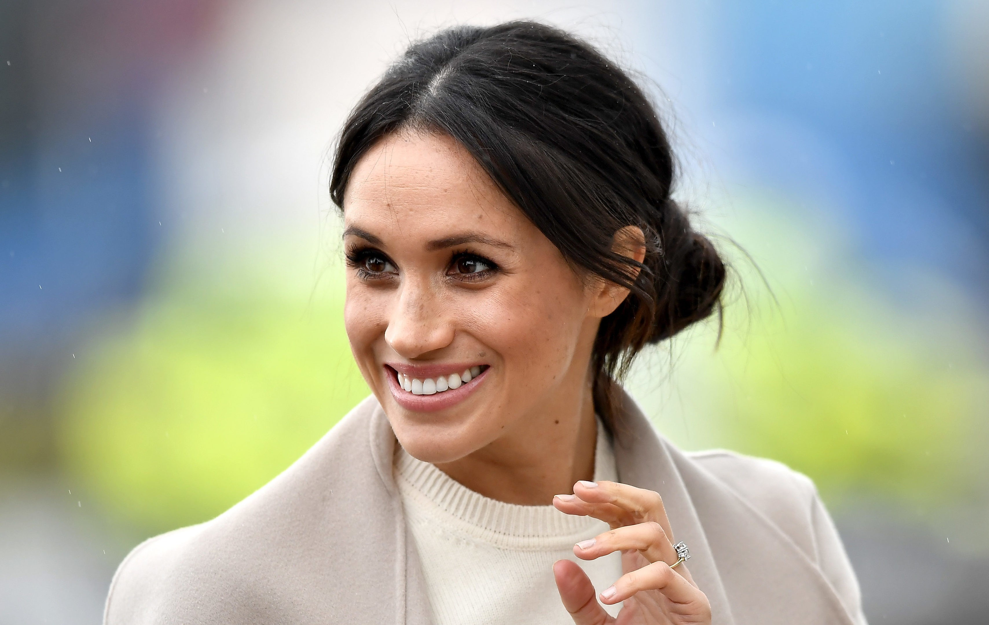 Meghan Markle usa look bege (Foto: Getty Images)