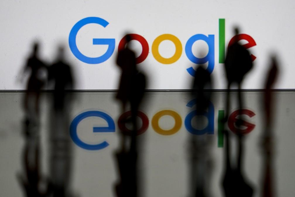 Foto de arquivo de fevereiro de 2020 mostra o logotipo do Google em Bruxelas, na Bélgica — Foto: Kenzo Tribouillard/AFP