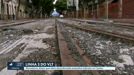 Obra da Linha 3 do VLT do Rio está parada