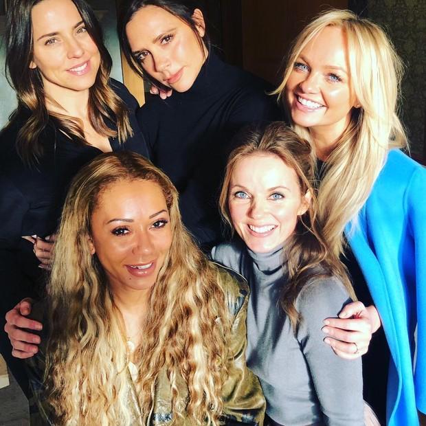 Spice Girls reunidas para novos projetos quebrou a internet (Foto: Reprodução/Instagram)