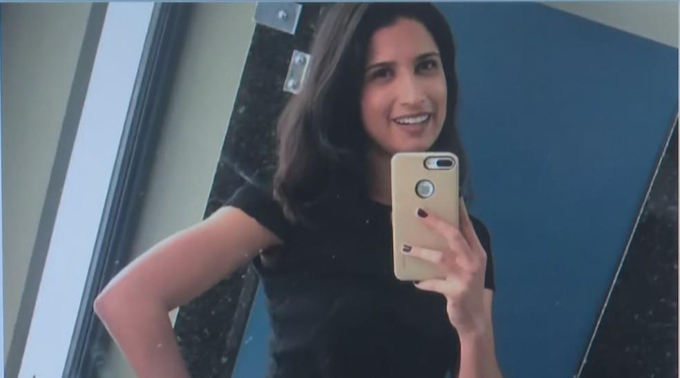 Advogada Letícia Sousa Curado Melo está desaparecida desde sexta-feira — Foto: TV Globo/Reprodução