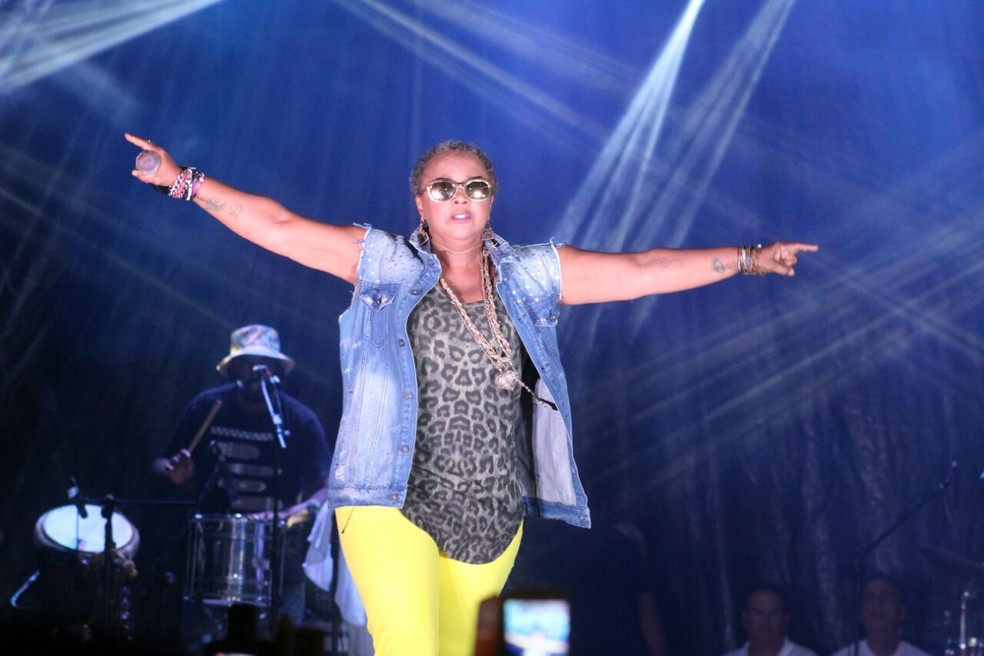 Sandra de Sá canta para o público do Bloco das Kenga no carnaval de Natal (Foto: Frankie Marcone)