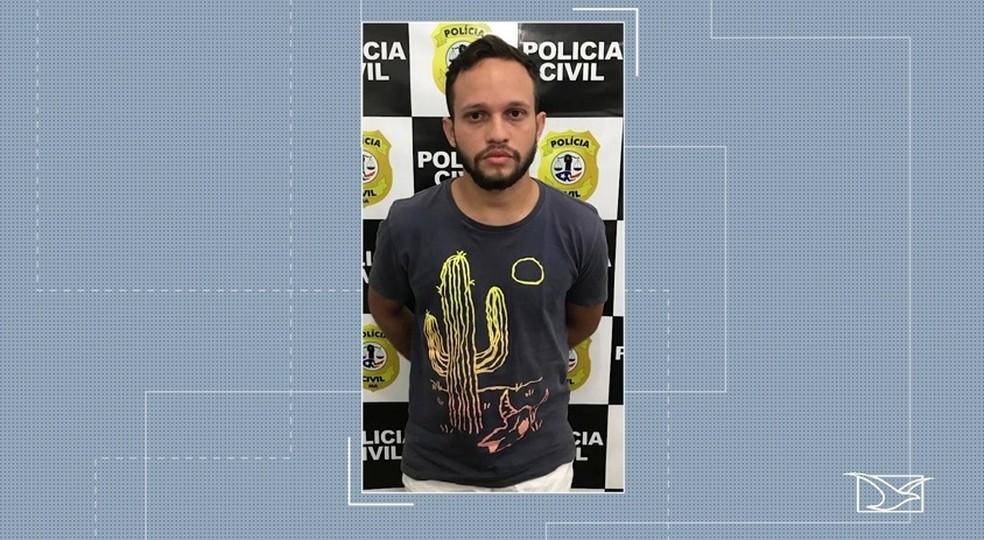 Pablo de Moraes Amaral foi preso suspeito de estuprar uma estudante universitária em Imperatriz — Foto: Reprodução/ TV Mirante