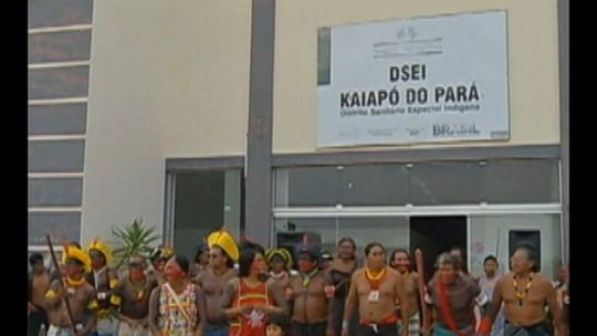 Protesto de índios Kaiapó entra no segundo dia no sul do Pará
