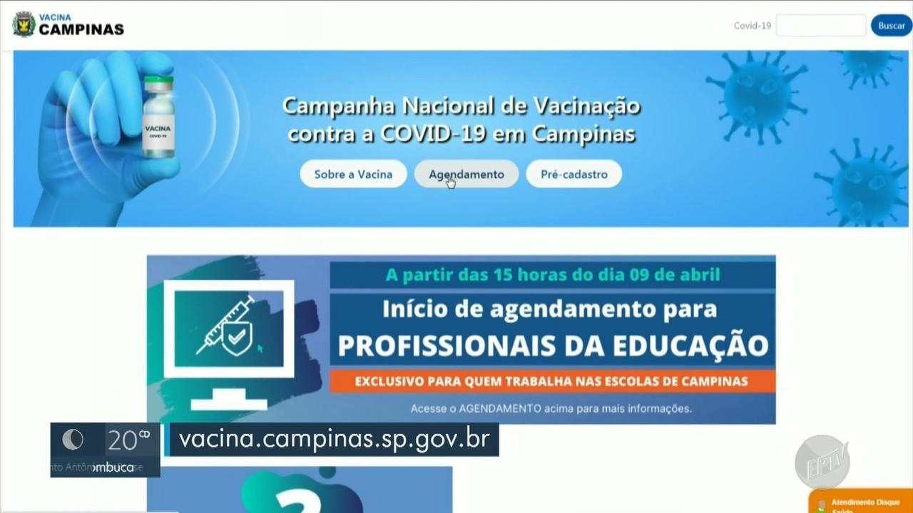 Campinas inicia vacinação de profissionais da educação contra a Covid-19 neste sábado (10)