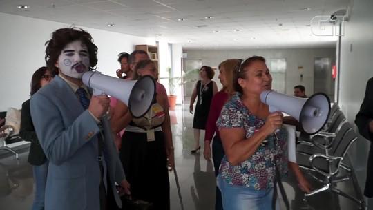 VÍDEO: servidores da Câmara Legislativa do DF querem ponto eletrônico para comissionados