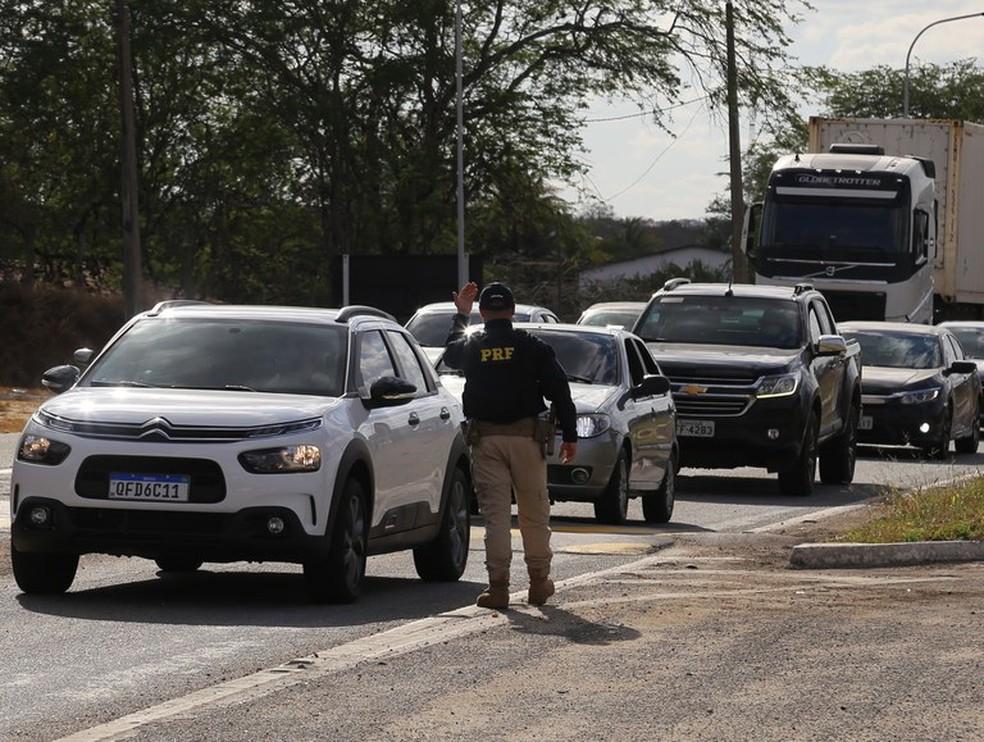 PRF registra queda de 5% em número de acidentes nas rodovias federais do RN no feriadão — Foto: Divulgação/PRF