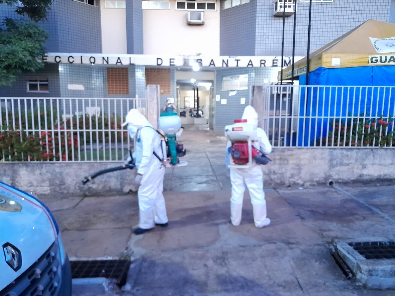 Delegacia da Polícia Civil de Santarém passa por sanitização após 7 policiais testarem positivo para a Covid-19