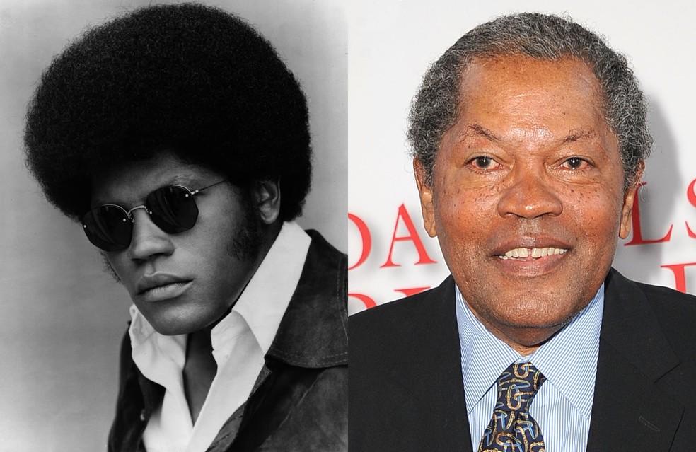 Clarence Williams III na época de 'The Mod Squad', na década de 70 (à esquerda), e em evento em 2013 — Foto: Reprodução/IMDB | Getty Images