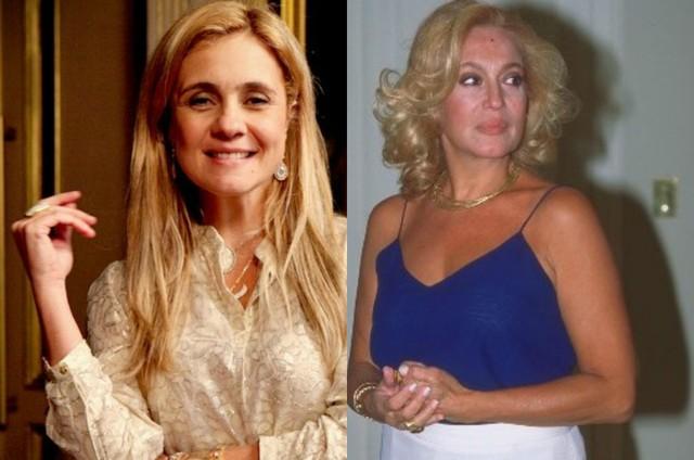 Carminha (Adriana Esteves) e Branca (Susana Vieira) (Foto: TV Globo)