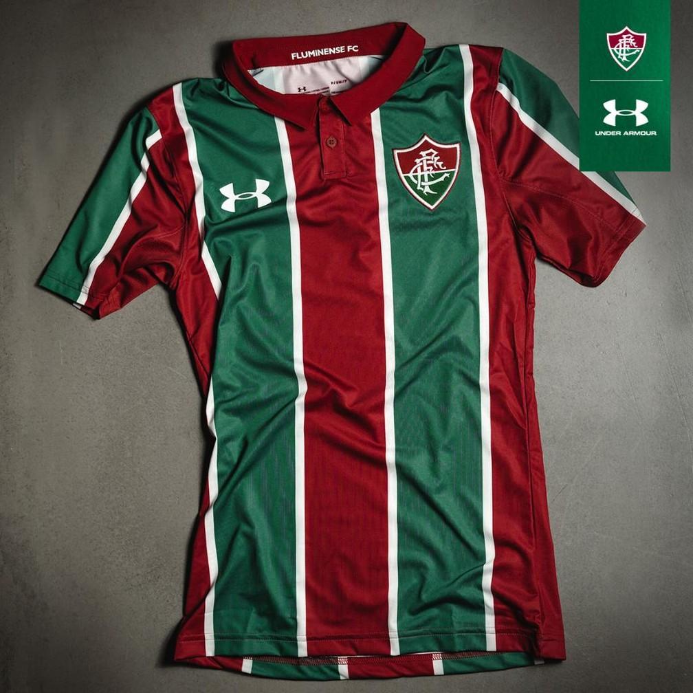 82ed4d9882385 Fornecedora divulga nova camisa tricolor do Fluminense para a ...