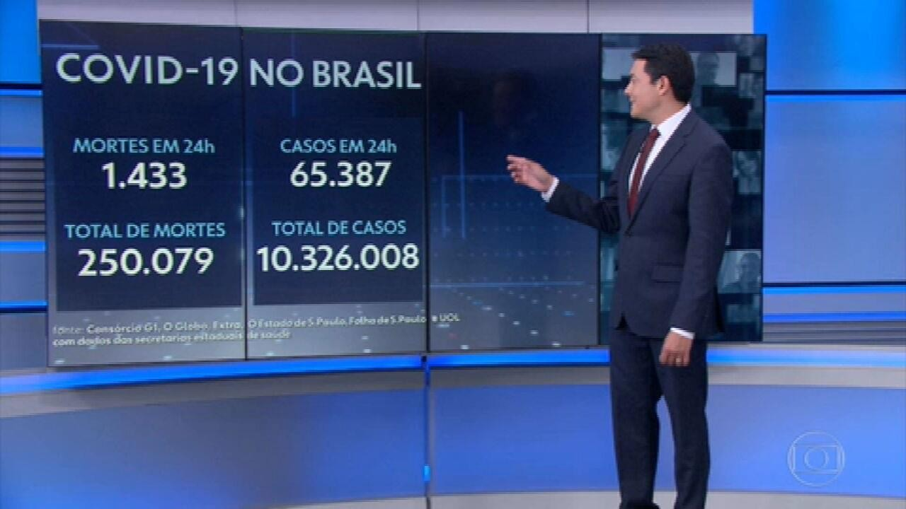 Brasil ultrapassa a marca de 250 mil mortos pela pandemia de Covid