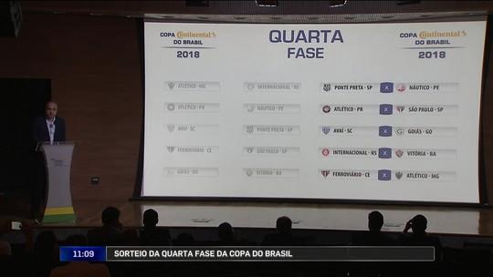 Confira os confrontos da quarta fase da Copa do Brasil, definidos em sorteio