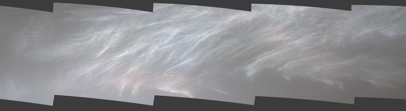 Sonda Curiosity, da Nasa, avistou nuvens iridescentes, ou
