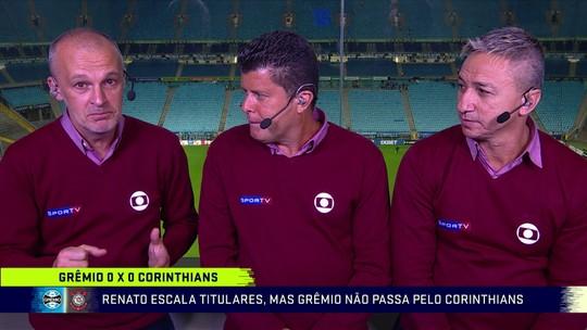 Paulo Nunes diz que Corinthians marcou forte e Grêmio pecou no terço final; Troca avalia Léo Moura