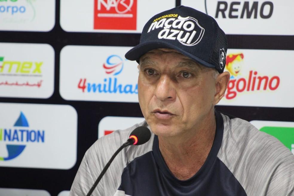 Márcio Fernandes ainda não venceu ao comando do Remo — Foto: Samara Miranda/Remo