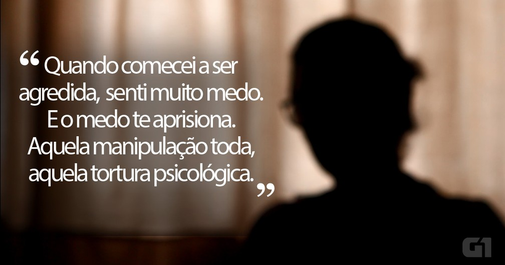 Relato de Maria, vítima de violência doméstica — Foto: Rafael Leal/G1
