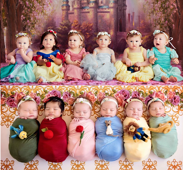 Um ano depois, fotógrafa refaz ensaio com tema de Princesas da Disney (Foto: Karen Marie)