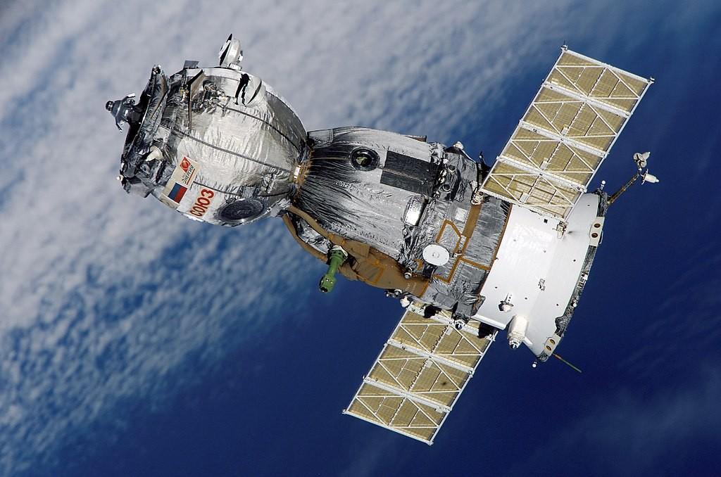 Satélite russo Soyuz TMA-7 (Foto: Thegreenj/Wikimedia Commons)