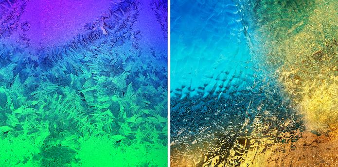 Estes são alguns dos wallpapers (Foto: Reprodução Galaxy Alpha)