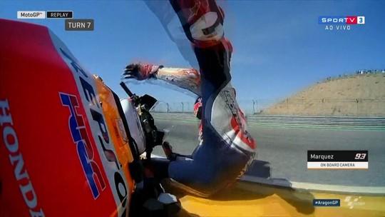 Marc Márquez sofre queda no treino livre da MotoGP e recolhe moto para os boxes