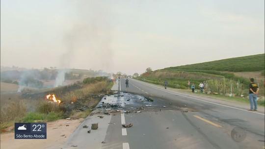 Batida entre caminhões de gás e de combustível deixa mortos e feridos na BR-491