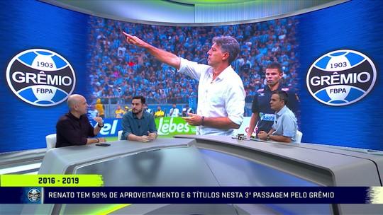 Cinco títulos, 148 vitórias e quase 300 jogos: os feitos de Renato Gaúcho como técnico do Grêmio