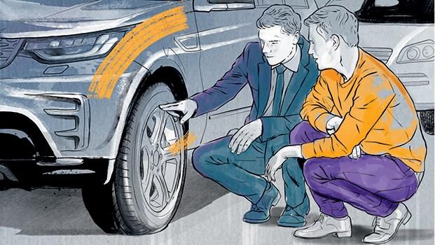 Ilustrações para matéria de Carros Usados (Foto: Ilustração: Davi Augusto)